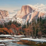Bruce Cheever, Sierra Sunset, Yosemite, oil, 30 x 45.