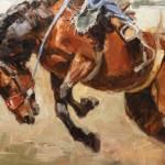 Lindsey Bittner Graham, Buckin' Fool, oil, 12 x 16.
