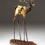 Sandy Graves, Bugle, bronze, 18 x 10 x 4.