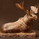 George Bumann, Vigilance, bronze, 19 x 22 x 9.