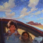 Scott Burdick, Traditional Navajo Minivan, oil, 50 x 40.