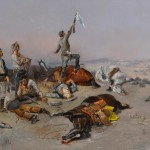 Charles M. Russell, Offering a Truce [Bested], oil, 23 x 35. Estimate: $1,300,000-$1,800,000.