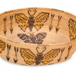 California Panamint basket with butterflies and arrows, 10 x 5 x 3.