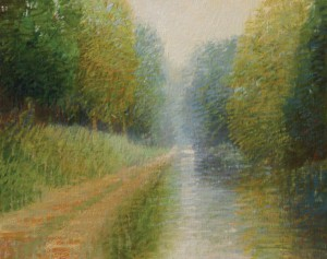 Will Klemm, Canal du Midi, oil, 16 x 20.