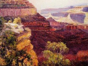 Matthew Higginbotham, Canyon Overlook, oil, 36 x 48.