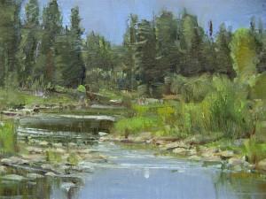 Carol Jenkins, Snake River, oil, 8 x 10.