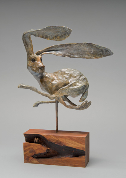 William Carrington, ¡No Mire Atras!, bronze, 15 x 11 x 6.  Photo credit: Michael Jay Smith