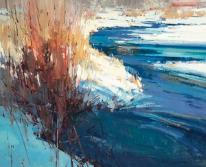 Jill Carver, Red Willow, Blue River, oil, 24 x 30, from Artistic Horizons.