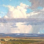 G. Russell Case, Rain Coming, oil painting