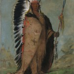 George Catlin, Ee-ah-sa-pa, Black Rock, A Two Kettle Chief, oil, 29 x 24.