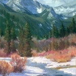 Cecy Turner, Winter Under Way in Moraine Park, oil, 20 x 16.
