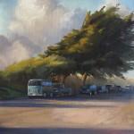 Young-Ji Cha, After Rain, oil, 20 x 16.