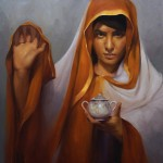 Young-Ji Cha, Mushk, oil, 24 x 24.