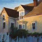 Young-Ji Cha, Yellow House, oil, 9 x 12.
