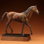 Joshua Tobey, Challenger, bronze, 20 x 6 x 28.