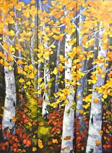 Sandra Chapman, Paintbrush Pathway, oil, 72 x 56.