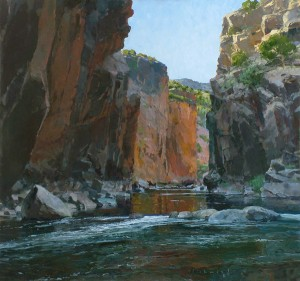 Len Chmiel, Black Canyon Rainbows, oil, 32 x 34.