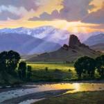 Reid Christie, End of High Water II, oil, 24 x 30.