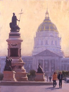 Randall Sexton, Civic Pride, oil, 40 x 30.