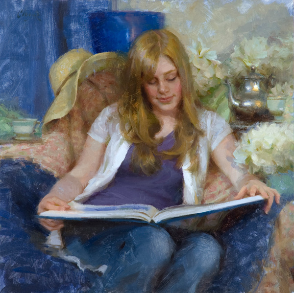 Adam Clague, Tea and Inspiration, oil painting