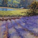 Clark Mitchell, Lavender, pastel, 12 x 9.