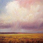 Matthew Higginbotham, Cloud Sweep Over Prairie Grass, oil, 40 x 40.