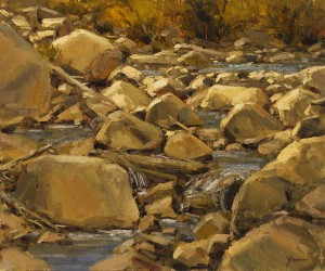 Dan Young, Coal Creek, oil, 15 x 18.