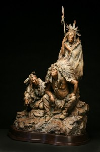 John Coleman, 1804—The Newcomers, bronze, 37 x 21 x 15.