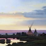 Nicholas Coleman, Near Iron Point, oil, 40 x 50.