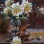 Daniel Gerhartz, Copper, Clay and Blossoms, oil, 24 x 18.