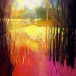 Mark Gould, Coppice 862, acrylic, 20 x 16.