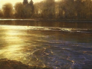 "Brent Cotton, Symphony of the River, 36"" x 48"", Oil on linen"