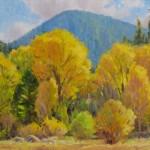 J. Chris Morel | Cottonwood Cluster, oil, 12 x 16.
