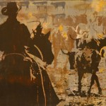 Counting Cows, serigraph, 19 x 46 x 2.