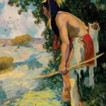 Eanger Irving Couse, The Hunter, oil, 20 x 16. Estimate: $70,000-$90,000.