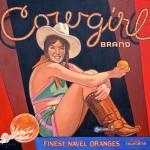 Dennis Ziemienski, Cowgirl Brand, oil, 44 x 48.