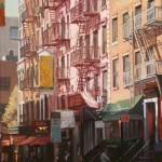 Craig Nelson, Sunlight in Soho, oil, 24 x 18.