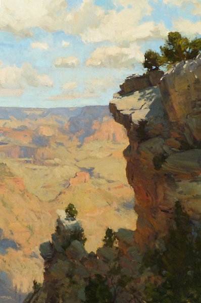 Bill Cramer, Life on the Edge, oil, 36 x 24.