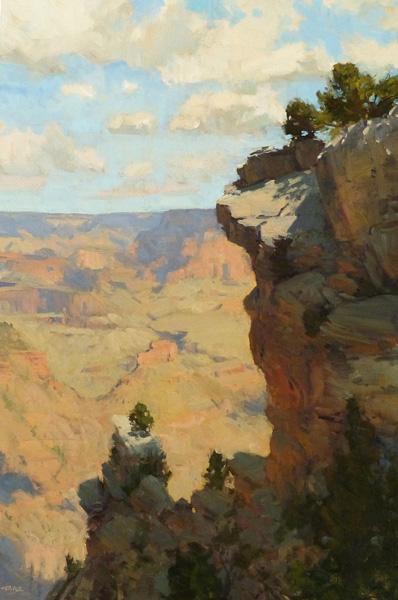 Bill Cramer, Life on the Edge, oil, 36 x 24.