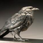 Pete Zaluzec | Crow, bronze, 24 x 9 x 6.