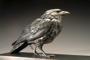 Pete Zaluzec | Crow, bronze, 24 x 9 x 6.