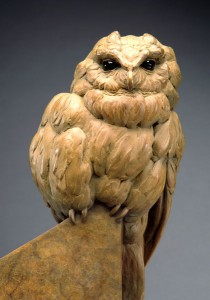 Pete Zaluzec | Curious Owl (detail), bronze, 18 x 9 x 6.