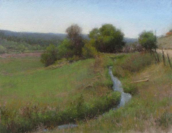 D. LaRue Mahlke, Summer Idyll, pastel, 9 x 12.
