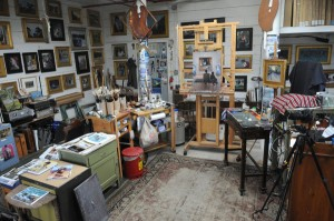Artist Stan Moeller's studio in Maine