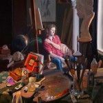 Daniel Bilmes, The Art Student, oil, 36 x 46.