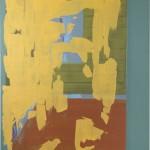 Daniel Granitto, Yellow Drape, acrylic, 14 x 11.