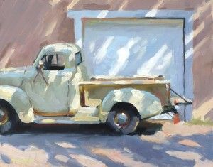 Tim Horn, Dappled Chevy, oil, 11 x 14.