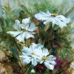 Darianne Whitt, Cosmos, oil, 8 x 10.