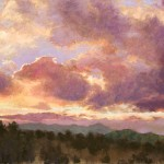 Nancy Silvia, Day's End, pastel, 24 x 26.
