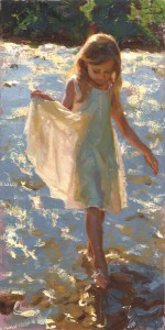 Mike Malm, Dazzling Light, oil, 24 x 12.